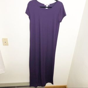 Dresses & Skirts - Plus Size Royal Purple Soft T Shirt Maxi Dress